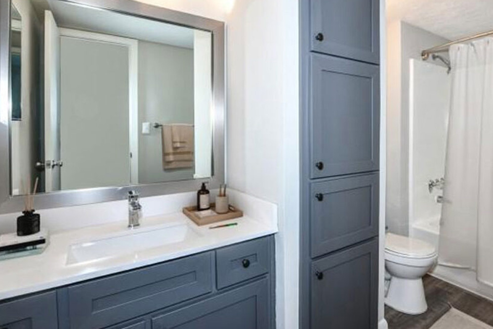 Bath cabinet makeover 3