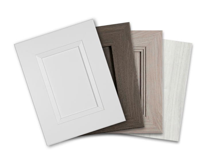 All-in-one cabinet door refacing kits comes with everything for a full cabinet renovation